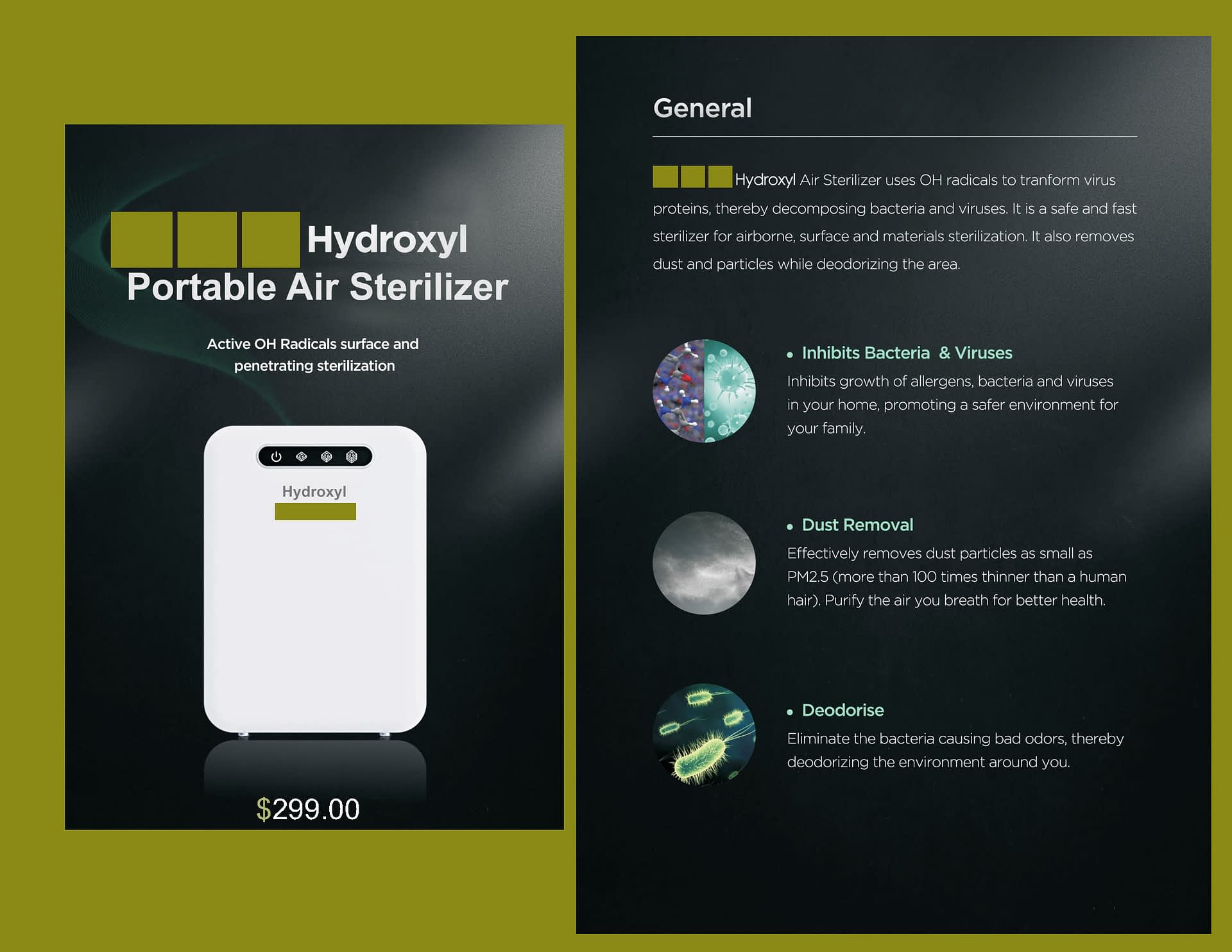 Portable air sterilizer